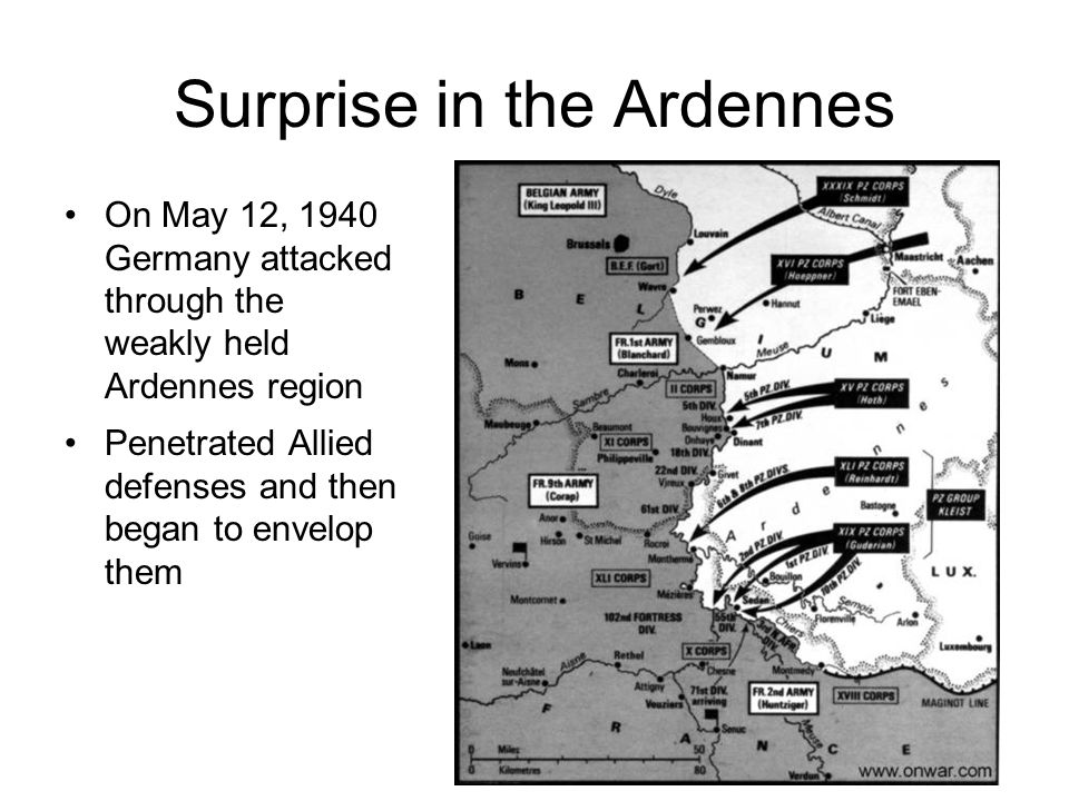 Surprise in the Ardennes