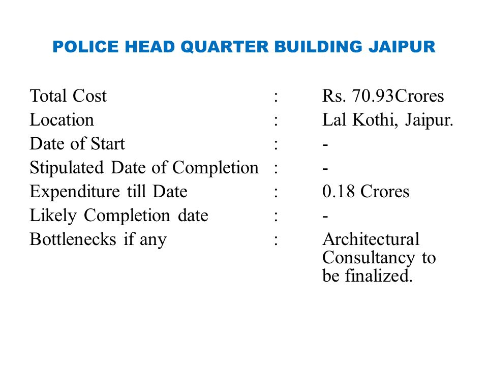 POLICE HEAD QUARTER BUILDING JAIPUR