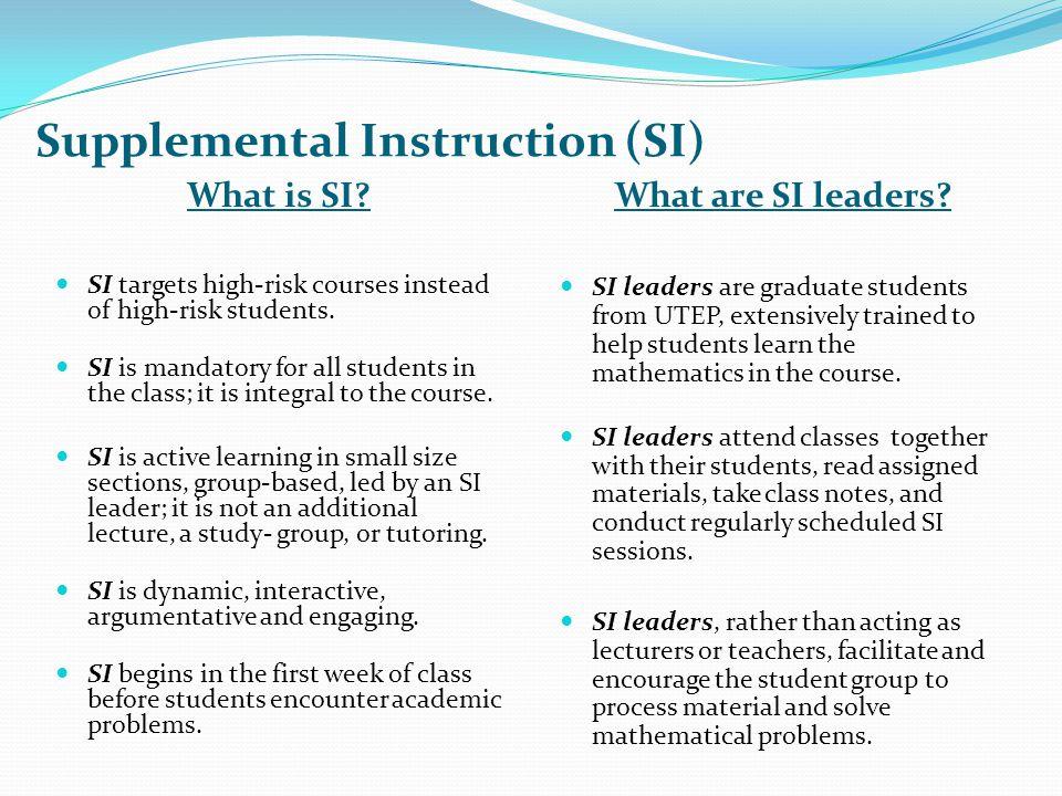 Merced college supplemental instruction.