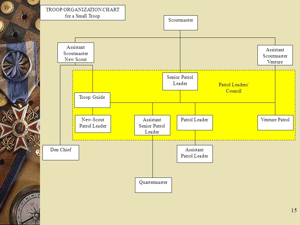 TROOP ORGANIZATION CHART for a Small Troop