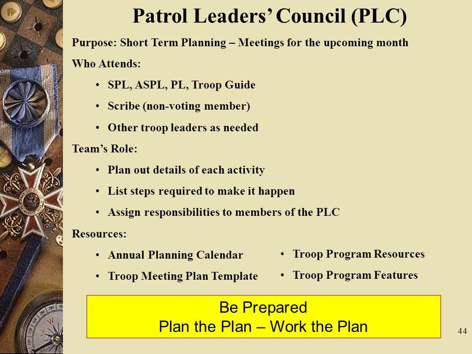 Troop Leadership Training Module I, II & III - ppt video