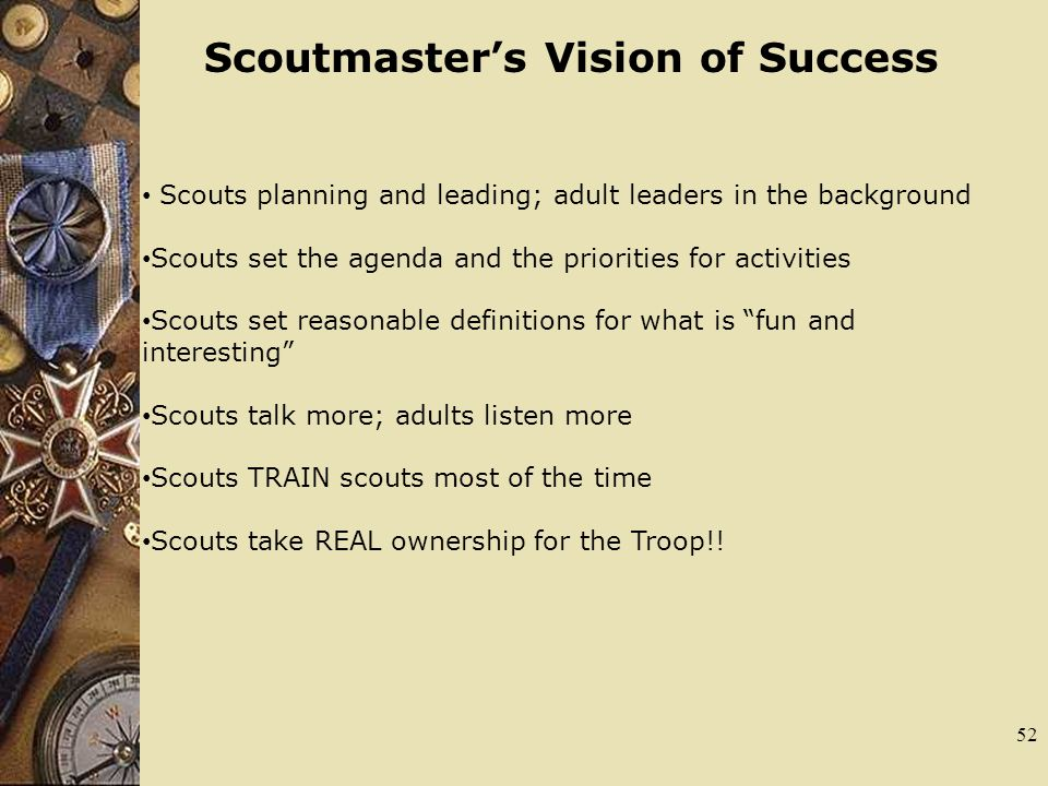 Scoutmaster's Vision of Success