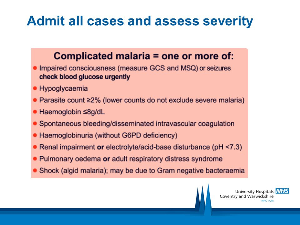 Admit all cases and assess severity