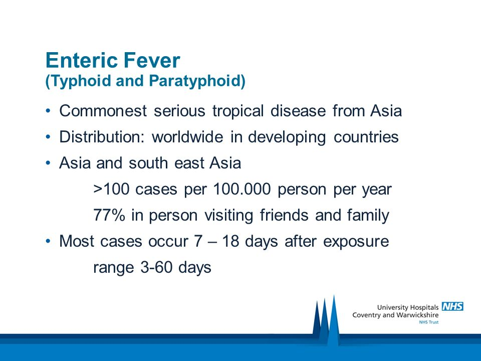 Enteric Fever (Typhoid and Paratyphoid))