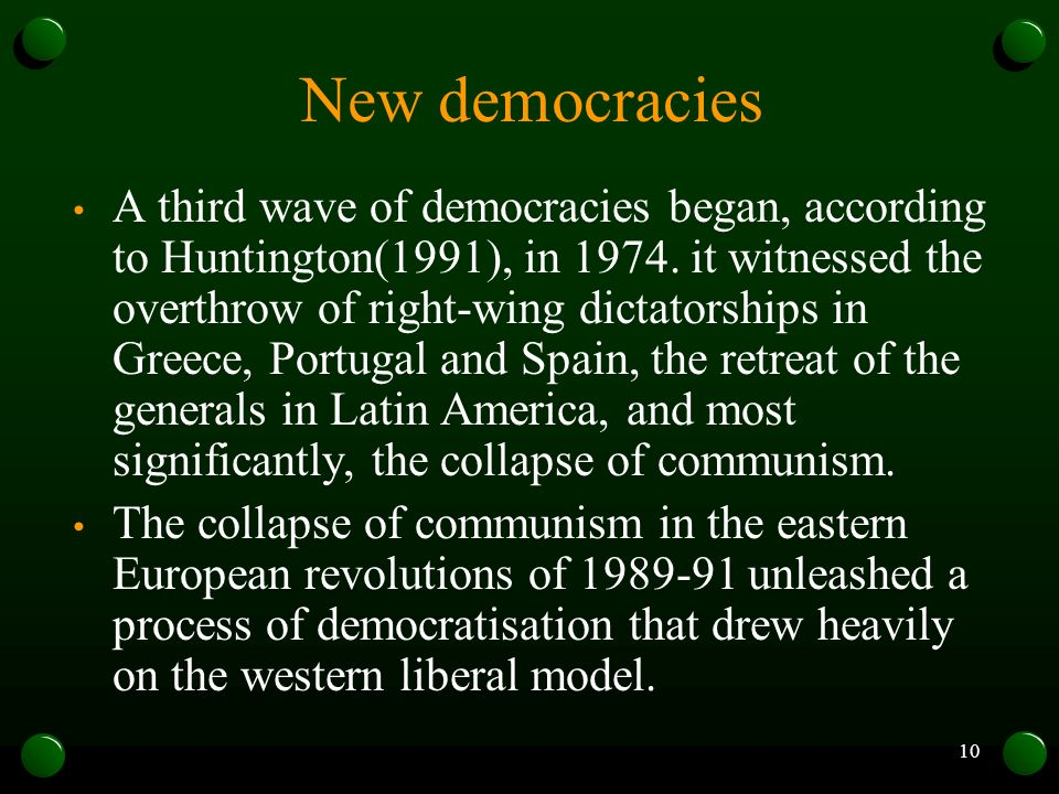 New democracies