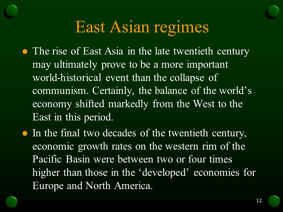 East Asian regimes