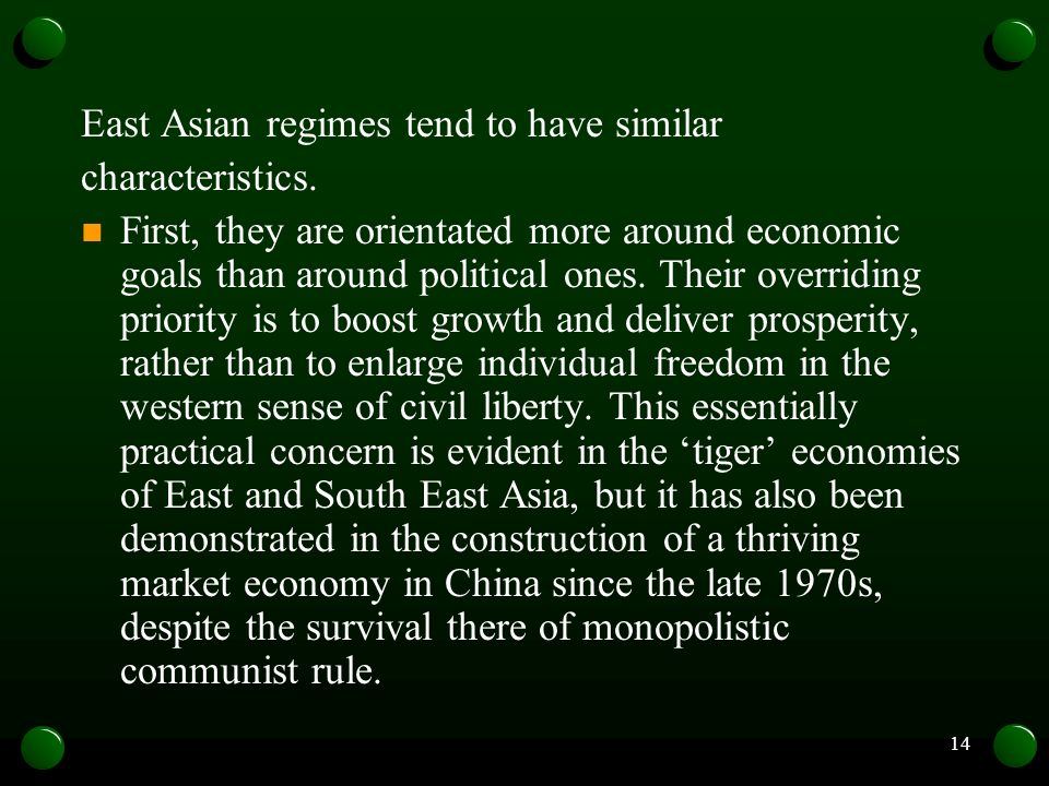 East Asian regimes tend to have similar