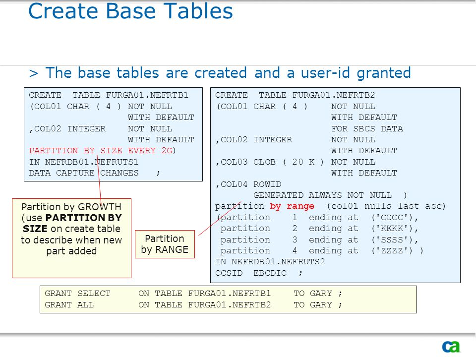 (use PARTITION BY SIZE on create table to describe when new part added