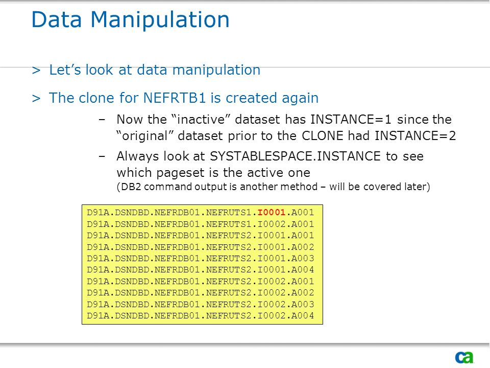 Data Manipulation Let's look at data manipulation