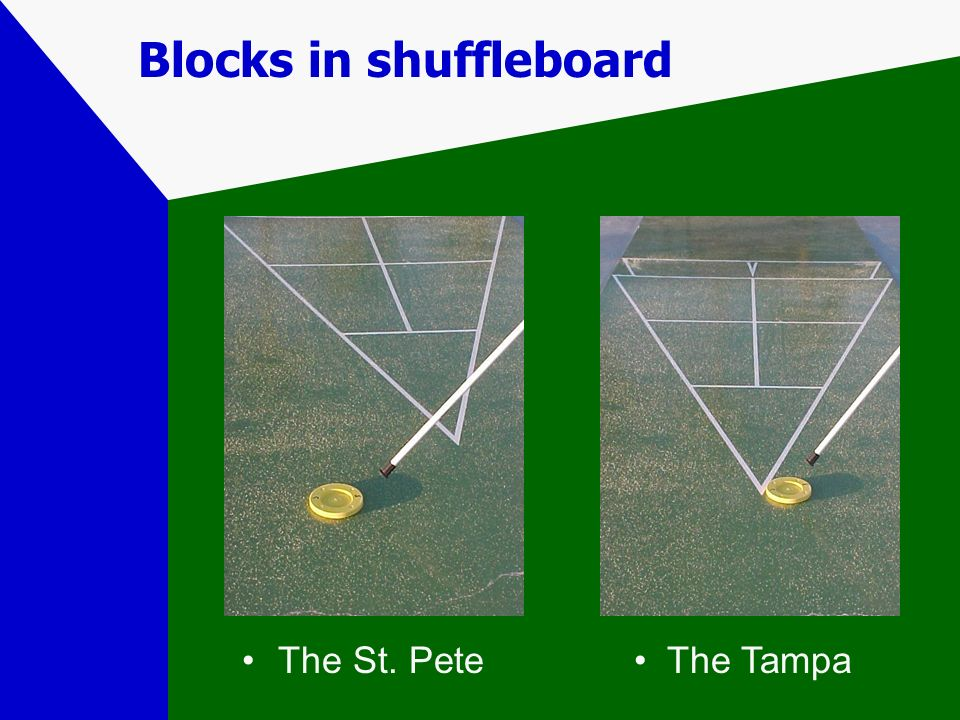 Blocks in shuffleboard