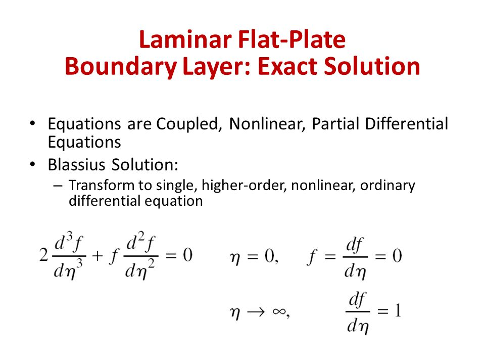Laminar Flat-Plate Boundary Layer: Exact Solution