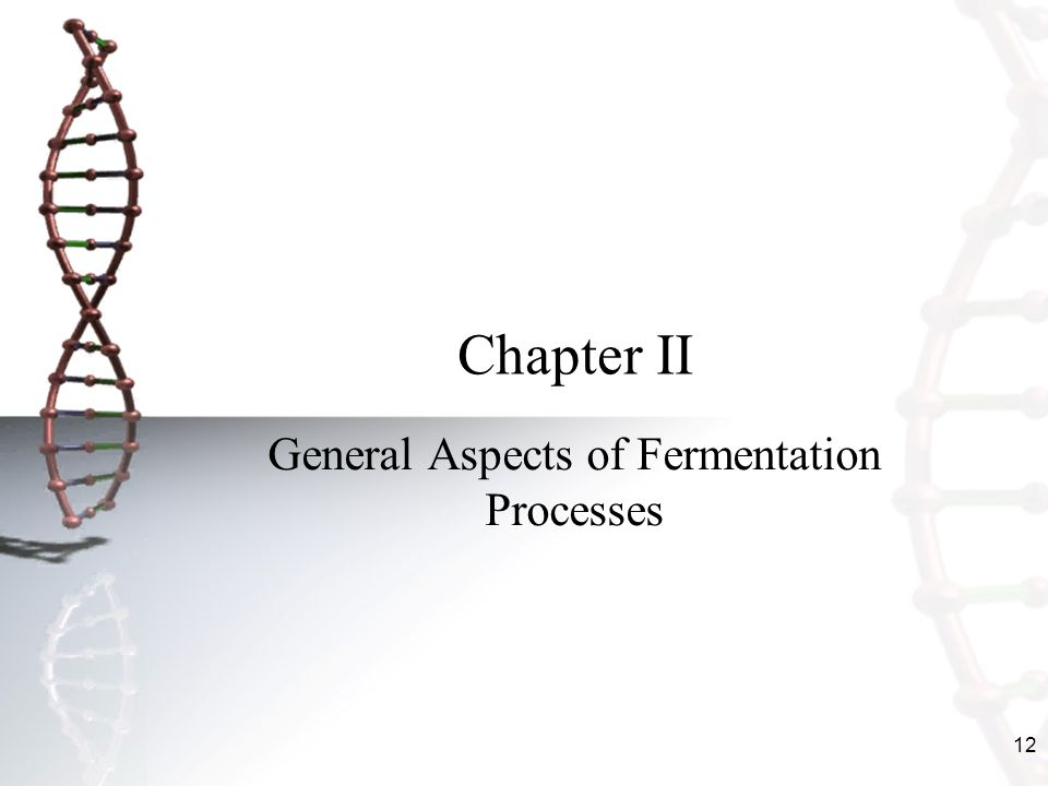 General Aspects of Fermentation Processes