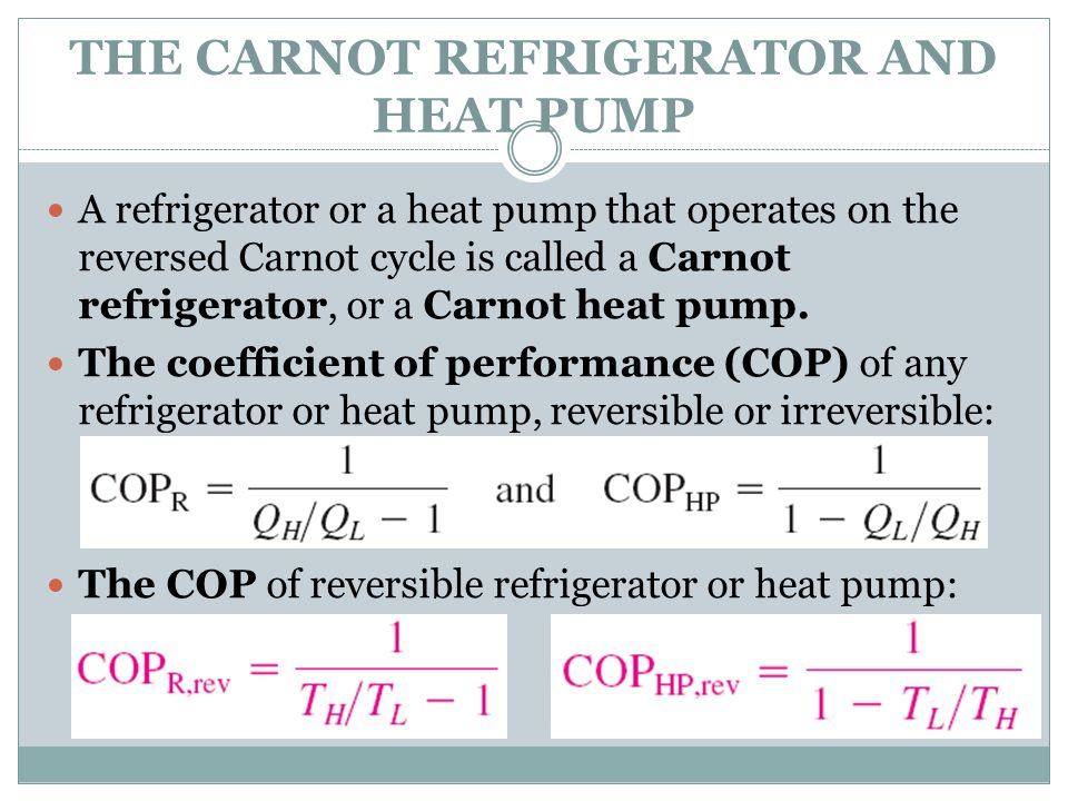 THE CARNOT REFRIGERATOR AND HEAT PUMP