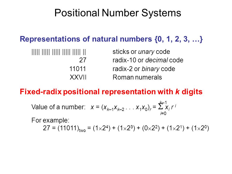 Positional Number Systems