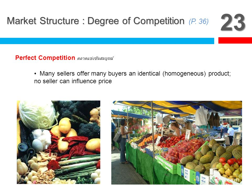 23 Market Structure : Degree of Competition (P. 36)