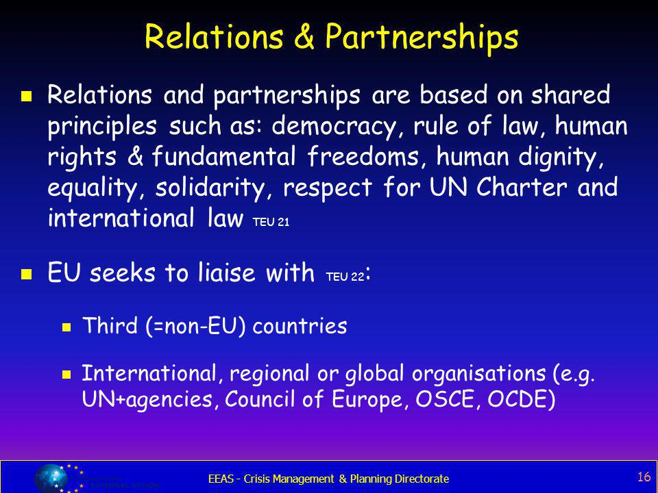 Relations & Partnerships