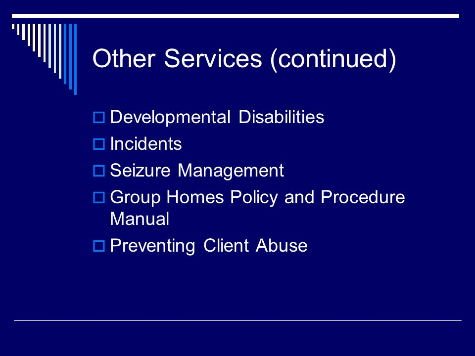 Other Services (continued)