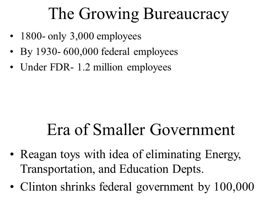 The Growing Bureaucracy