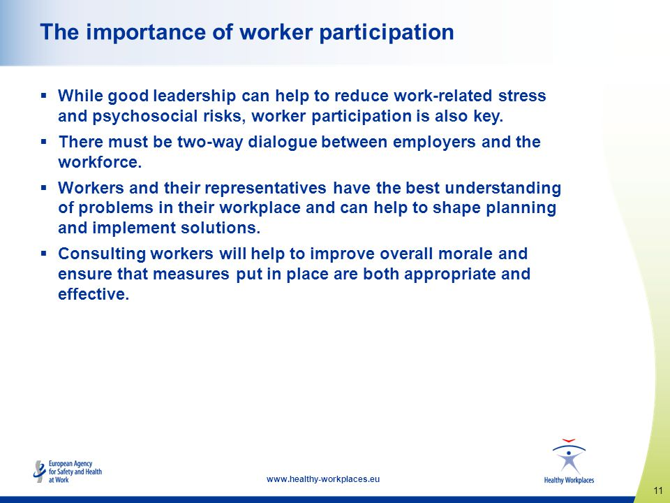 The importance of worker participation