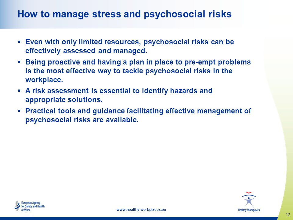 How to manage stress and psychosocial risks