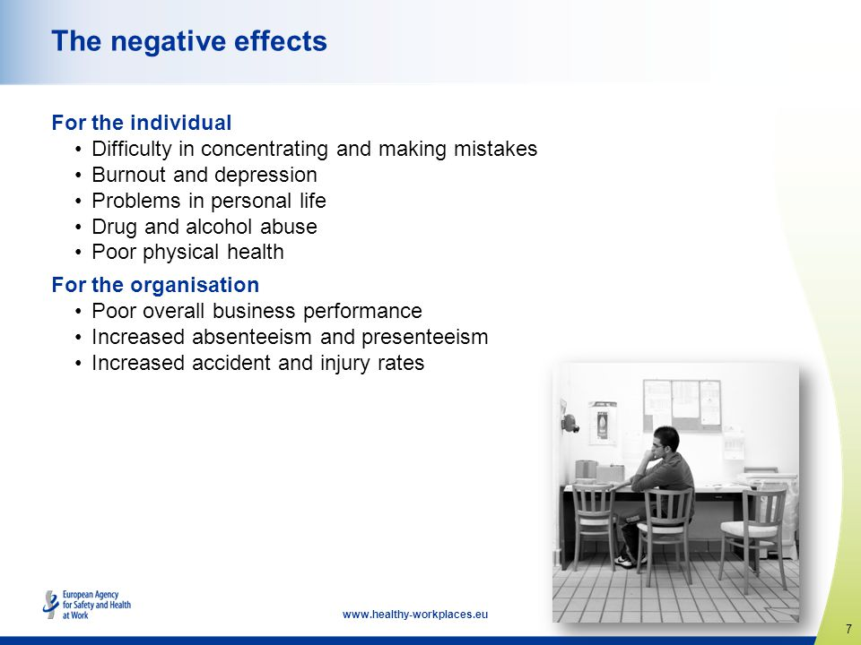 The negative effects For the individual