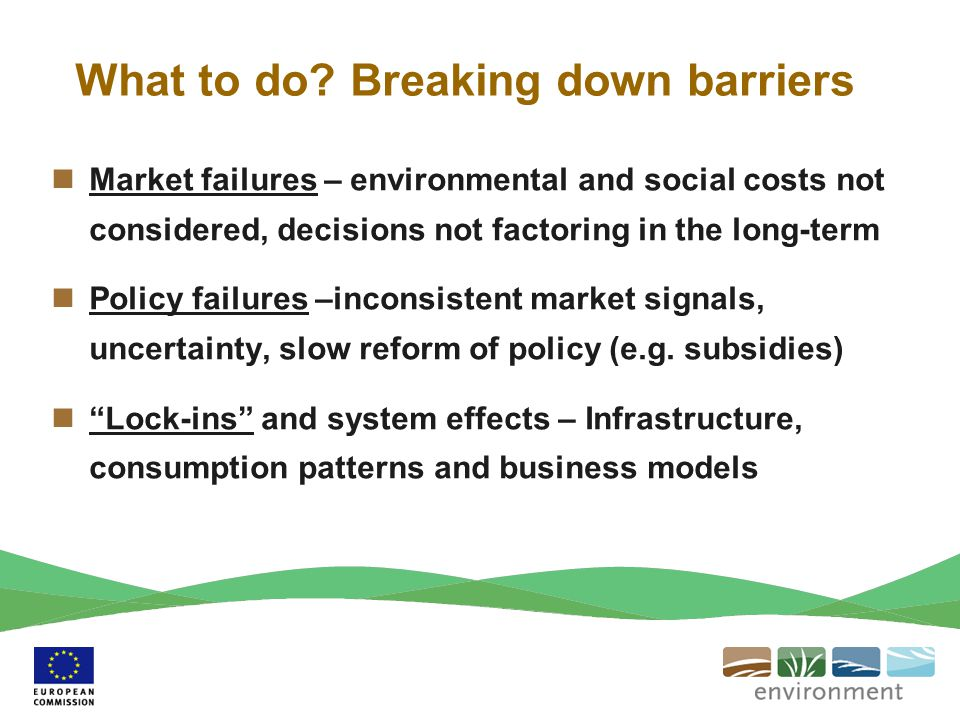 What to do Breaking down barriers