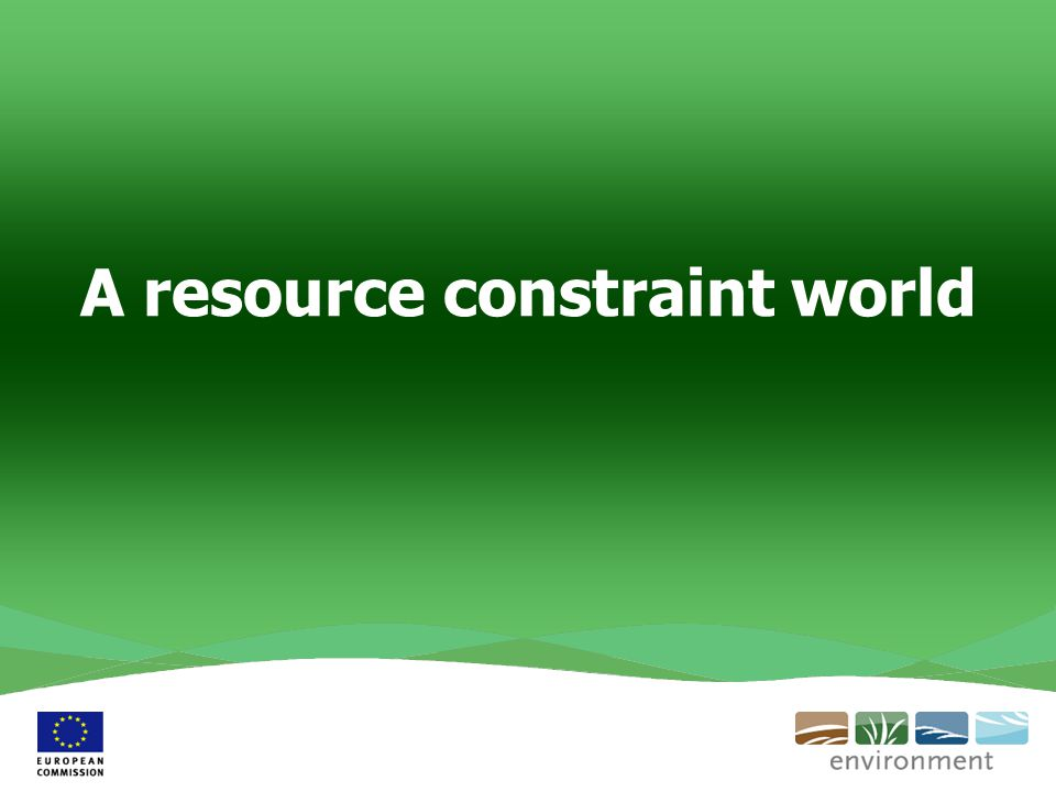 A resource constraint world