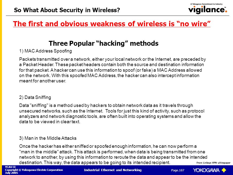 So What About Security in Wireless