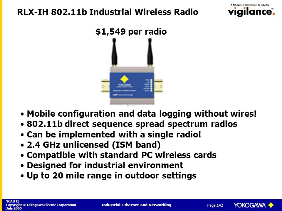 RLX-IH 802.11b Industrial Wireless Radio