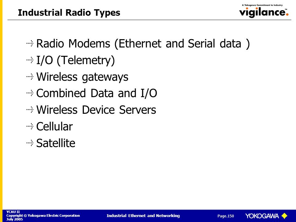 Industrial Radio Types