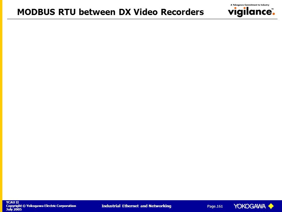 MODBUS RTU between DX Video Recorders