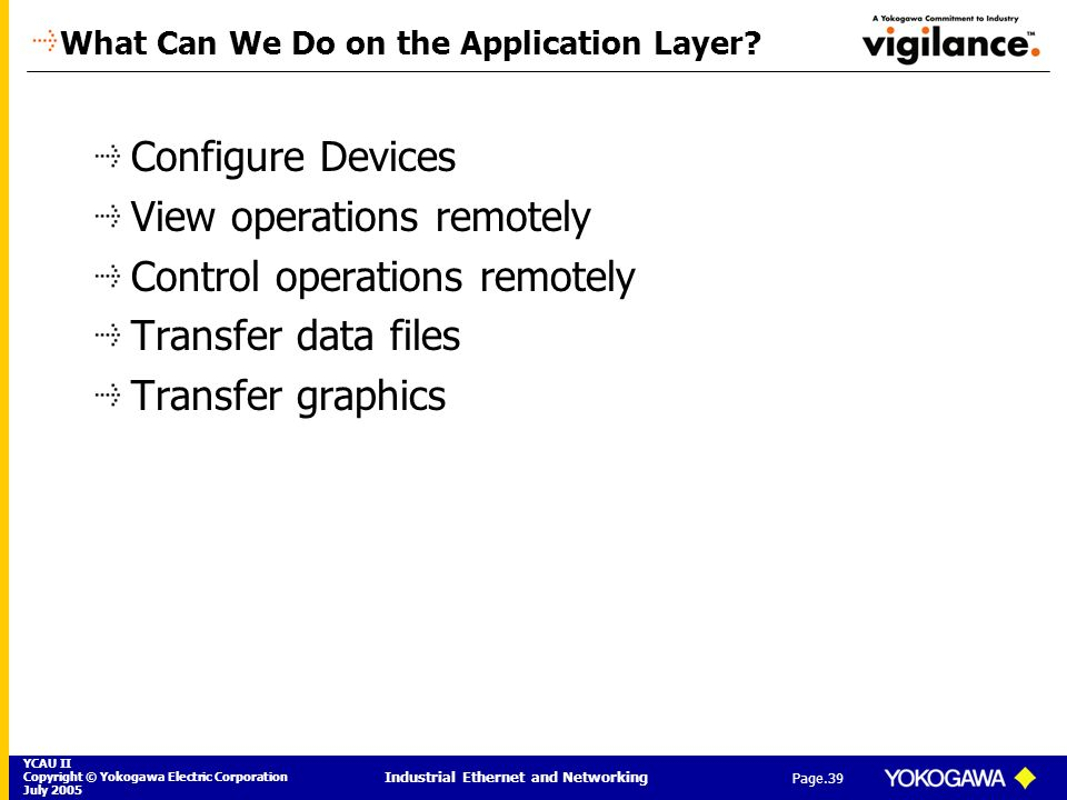 What Can We Do on the Application Layer
