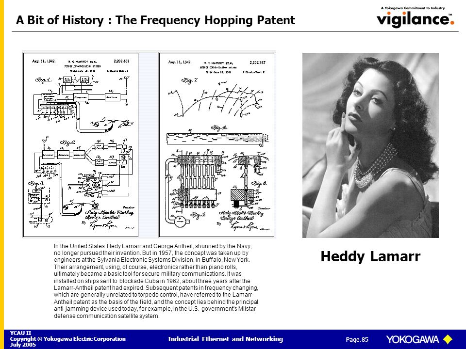 A Bit of History : The Frequency Hopping Patent