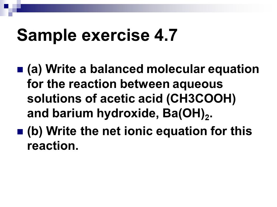 Sample exercise 4.7