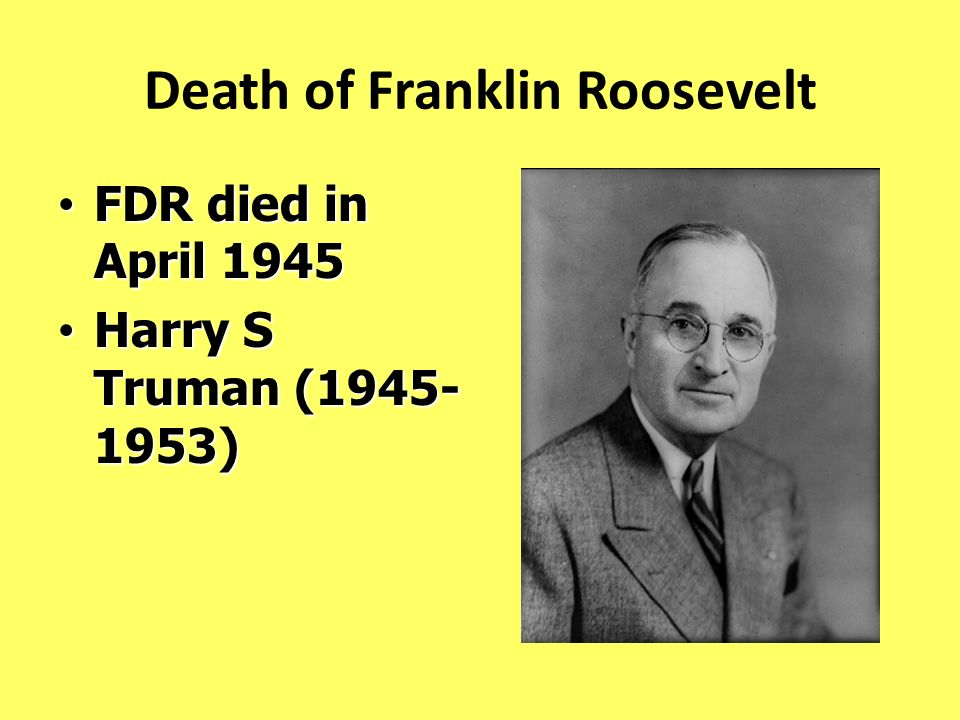 Death of Franklin Roosevelt