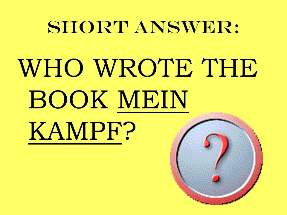 WHO WROTE THE BOOK MEIN KAMPF