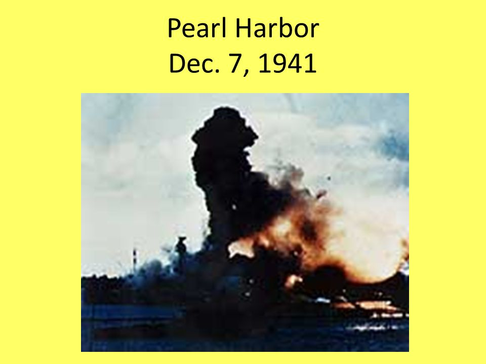 Pearl Harbor Dec. 7, 1941