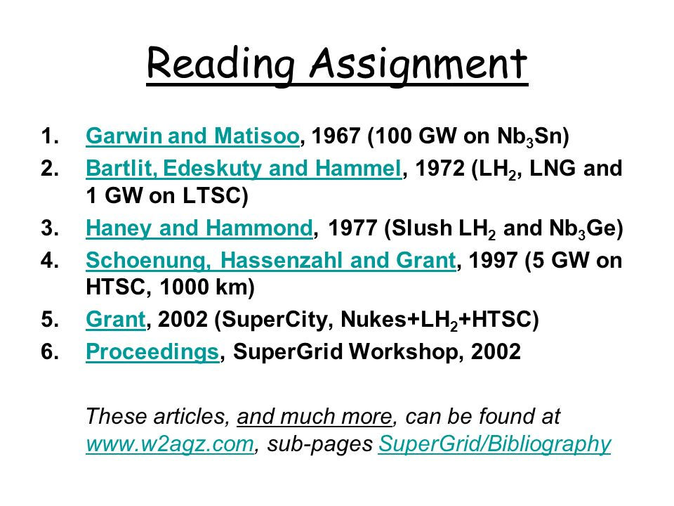 Reading Assignment Garwin and Matisoo, 1967 (100 GW on Nb3Sn)