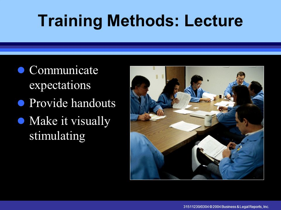 Training Methods: Lecture
