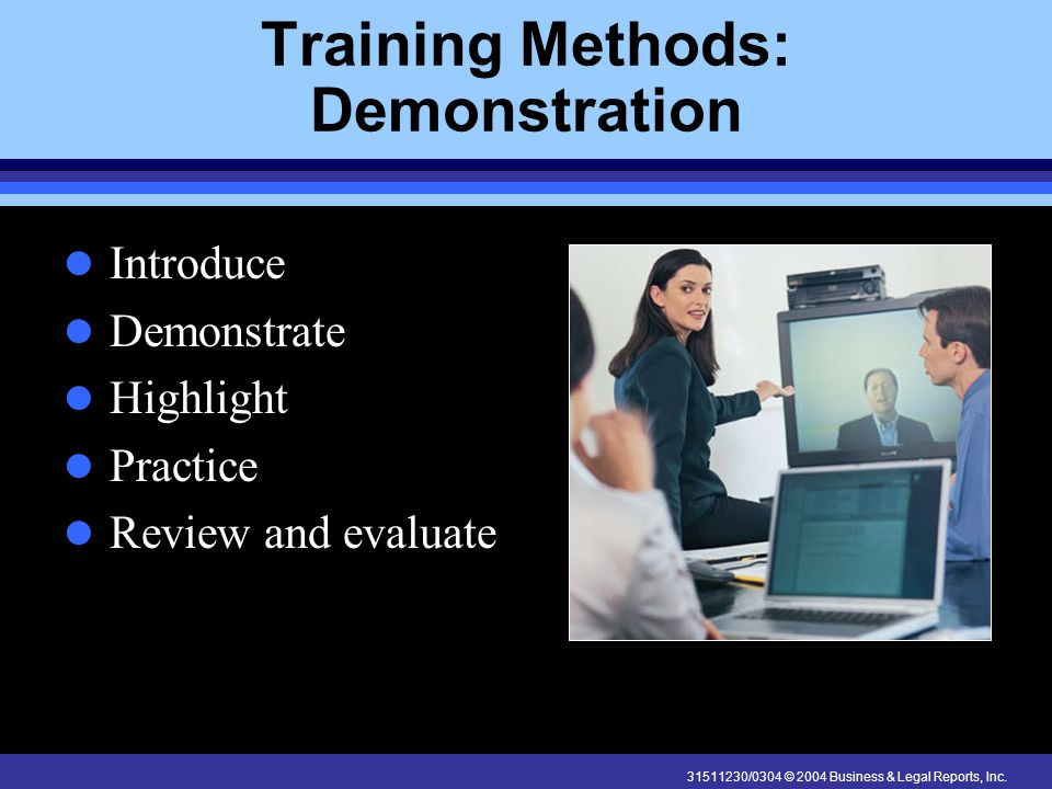 Training Methods: Demonstration