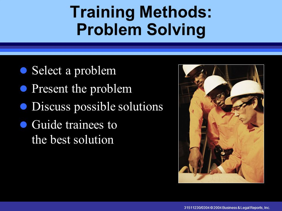 Training Methods: Problem Solving