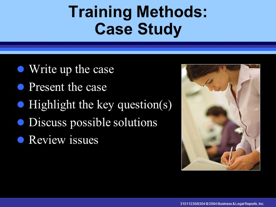 Training Methods: Case Study
