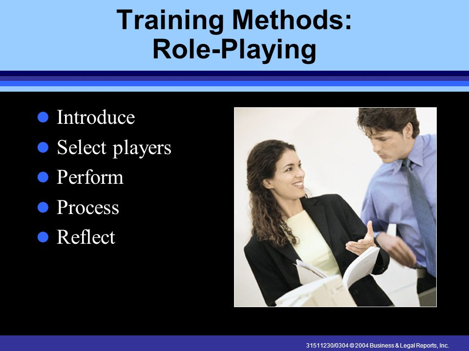 Training Methods: Role-Playing