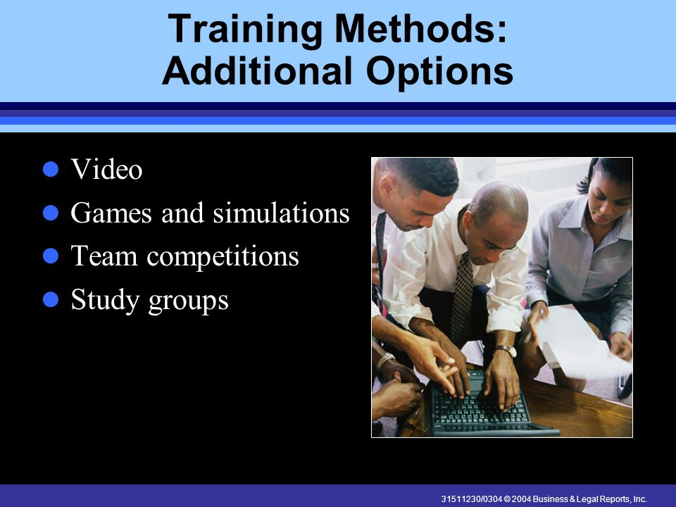 Training Methods: Additional Options