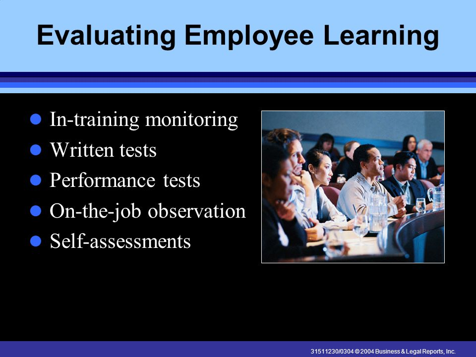 Evaluating Employee Learning