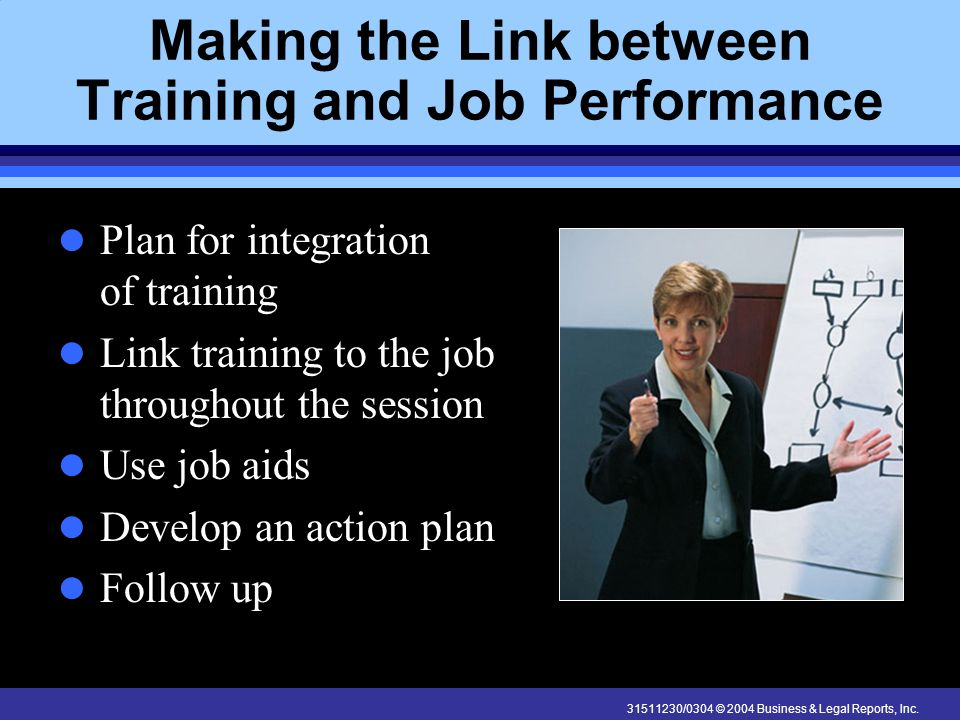 Making the Link between Training and Job Performance