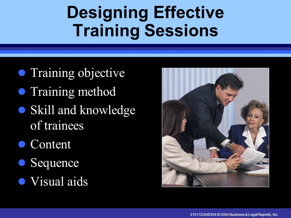 Designing Effective Training Sessions