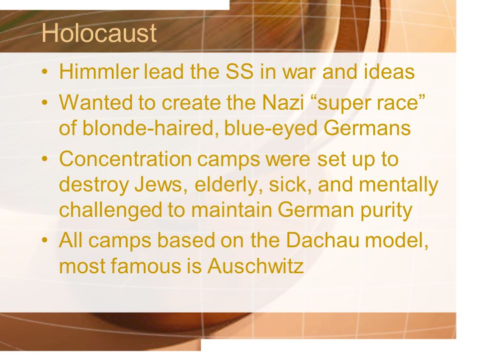 Holocaust Himmler lead the SS in war and ideas