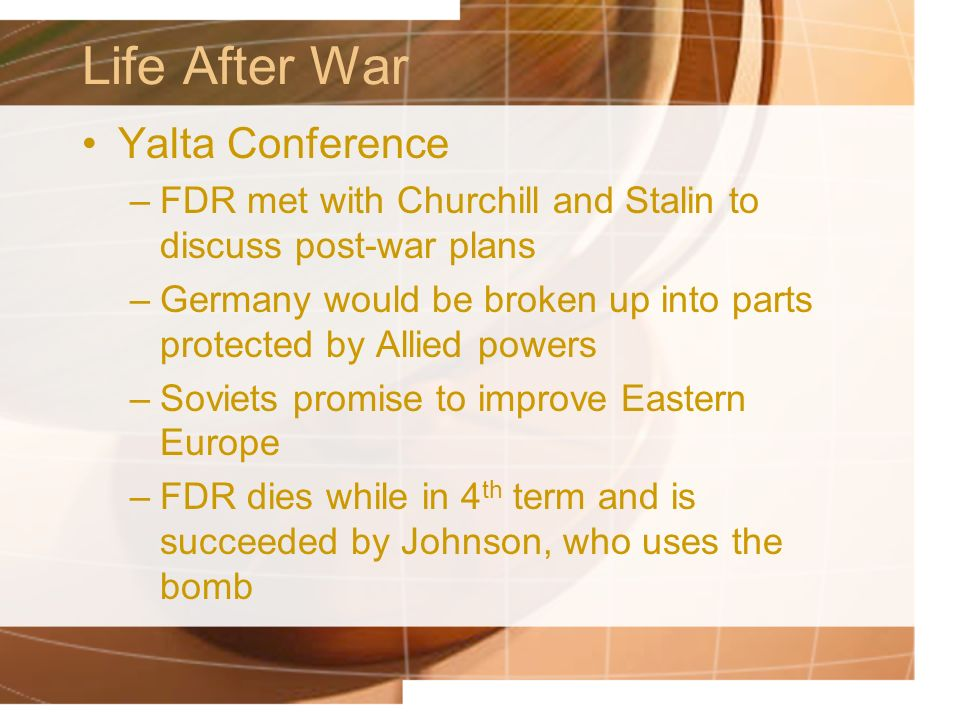 Life After War Yalta Conference
