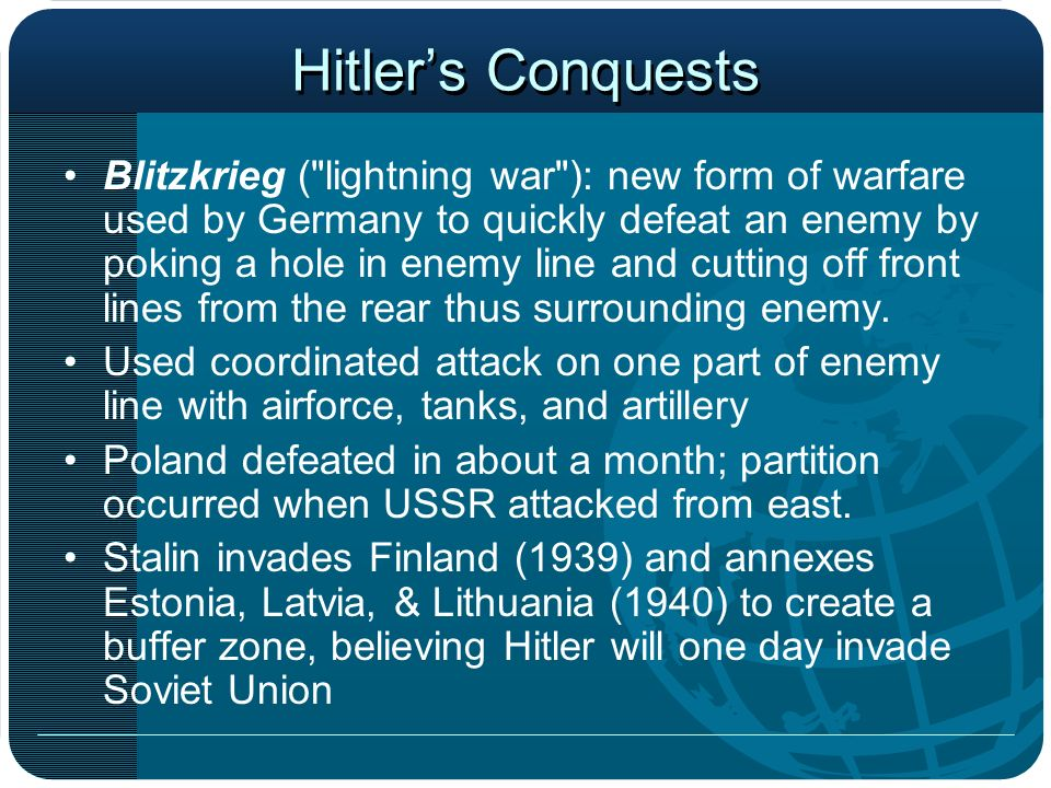 Hitler's Conquests